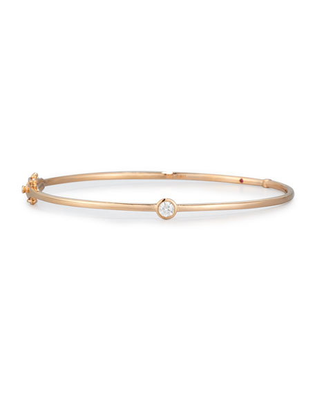 18k Rose Gold Diamond Station Bangle