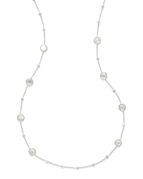 Ippolita Rock Candy Ball and Stone Station Necklace in Mother-of-Pearl, 38