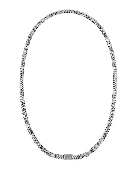 Batu Classic Chain Extra-Small Sterling Silver Necklace, 18""