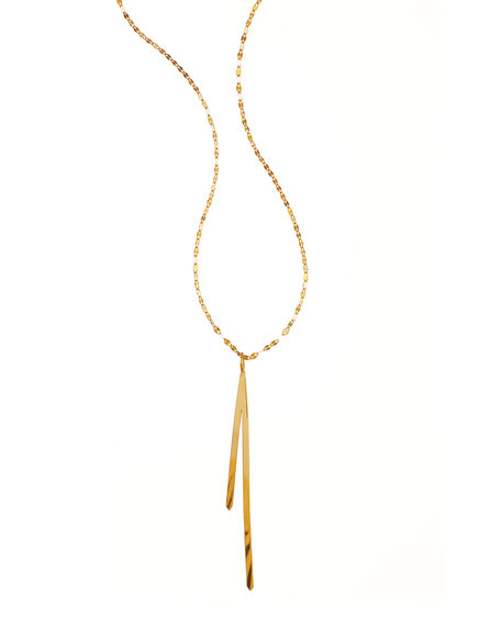 LANA 14k Elite Bar Reflector Pendant Necklace