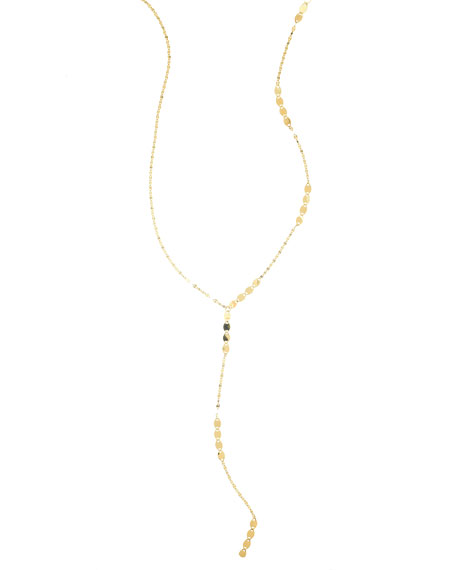 LANA 14K Gold Nude Remix Lariat Necklace