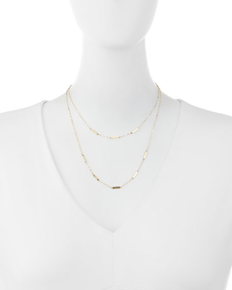 14K Gold Bar Duo Necklace