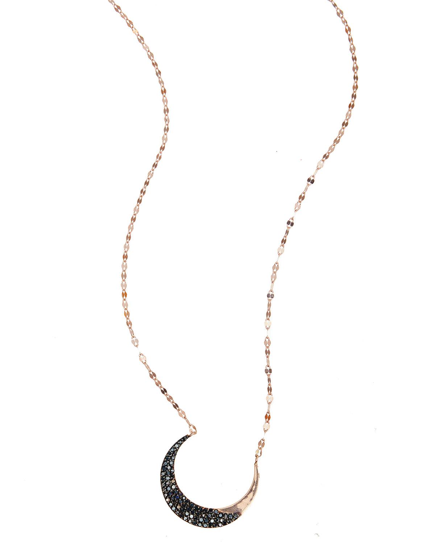 Lana Jewelry Reckless 14K Black Gold Choker with Black Diamonds p6Wwn