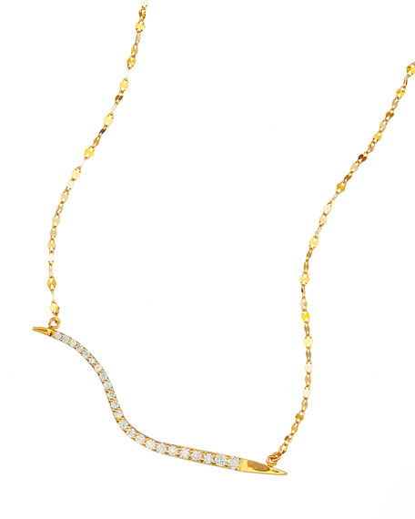 LANA 14k Electric Wavelength Diamond Necklace