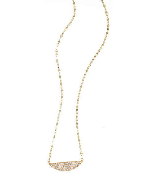 Eclipse Pendant Necklace with Diamonds