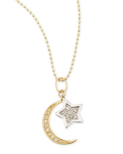 STAR MOON COMBO NECKLACE