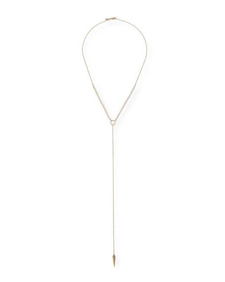 Sydney Evan Pearl-Beaded Lariat Necklace