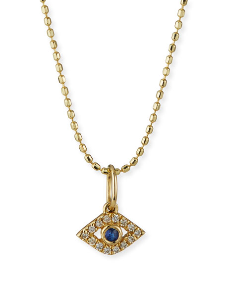 Sydney Evan 14k Gold Tiny Evil Eye Charm