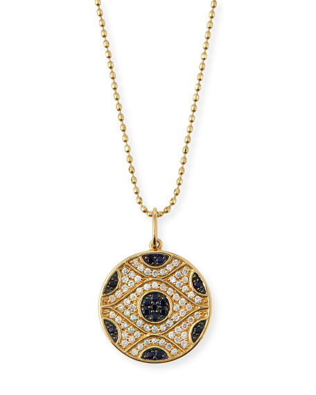 Sydney Evan Large Evil Eye Medallion Necklace