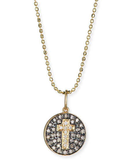Sydney Evan Cross Medallion Necklace with Diamonds
