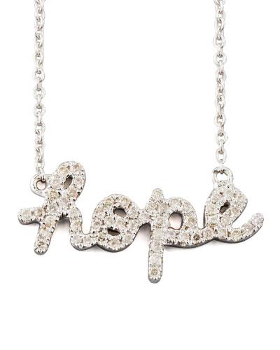 Diamond Hope Necklace White Gold