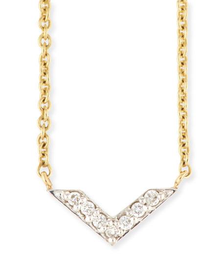 Sydney Evan Two-Tone Diamond Chevron Necklace KVi99qsh