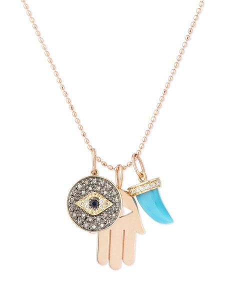 Spiritual Trio Charm Necklace