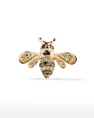b7bddbe27e9 Sydney Evan 14k Gold Diamond   Sapphire Bee Stud Earring (Single)