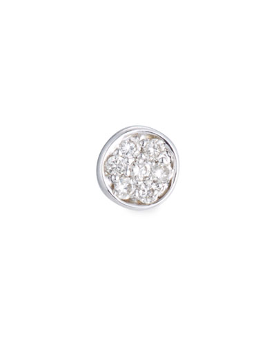 Single Pavé Diamond Disc Stud Earring