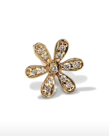Sydney Evan 14K Gold Daisy Stud Earring with