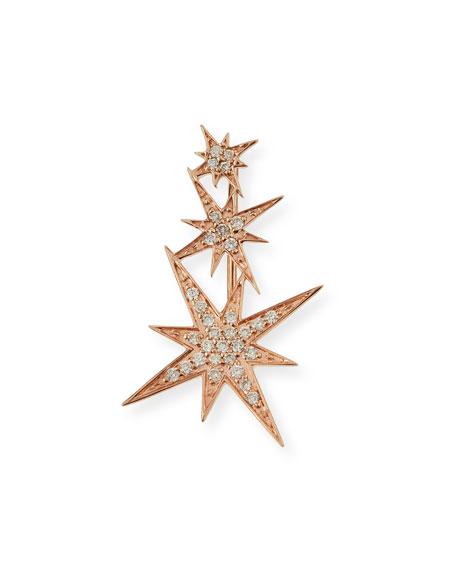 Sydney Evan 14K Rose Gold Triple Diamond Starburst