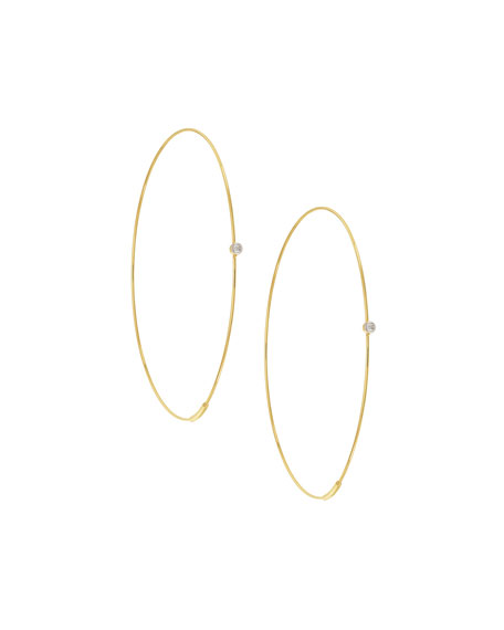 LANA Large Diamond Magic Hoop Earrings