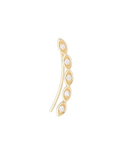 Single 14k Gold Evil Eye Diamond Earring  Right