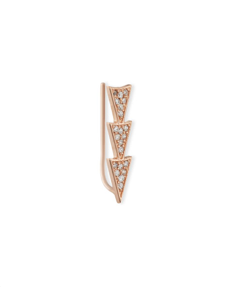 Sydney Evan 14k Rose Gold Triple Diamond Triangle