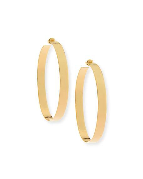 Large Vanity 60Mm Hoop Earrings, Yellow Gold