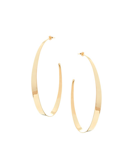 Large Narrow Gloss Hoops