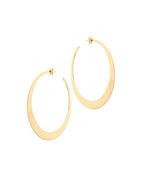 Large Gloss Hoop Earrings