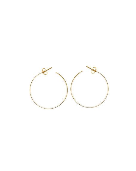Medium Vanity 14K Hoop Earrings