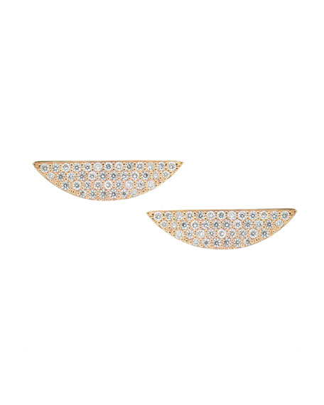 Eclipse 14K Pavé Diamond Earrings