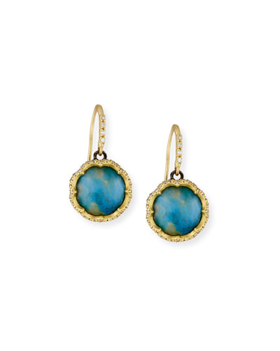 Old World Peruvian Opal Earrings with Diamonds