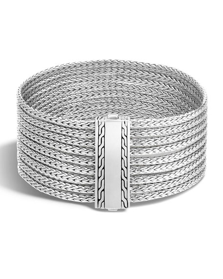John Hardy Classic Chain Nine-Row Sterling Silver Bracelet