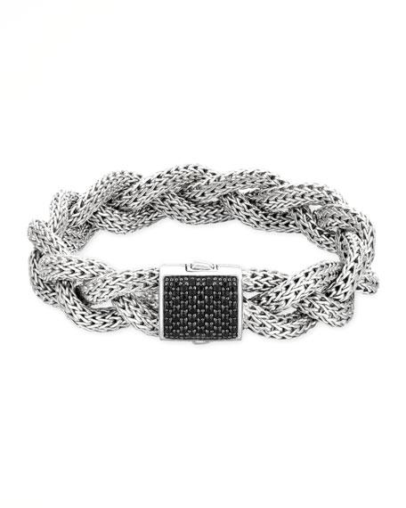 John Hardy Classic Chain Medium Braided Silver Bracelet,