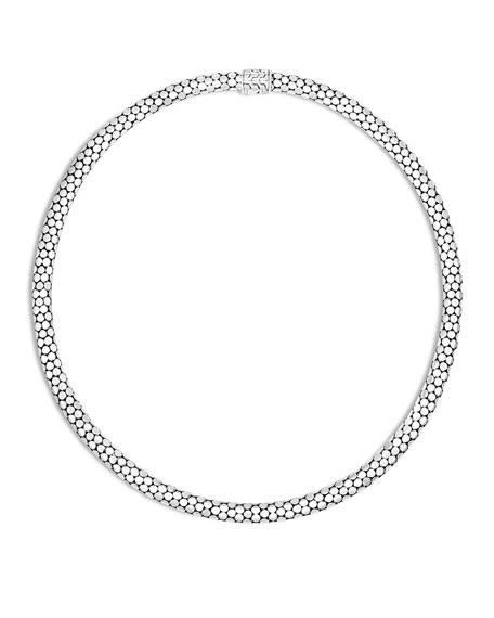 John Hardy Dot Small Sterling Silver Chain Necklace,