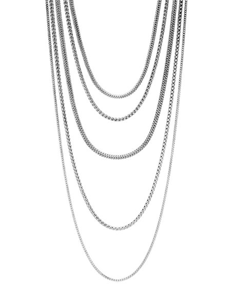 John Hardy Classic Chain Five-Row Necklace, 17