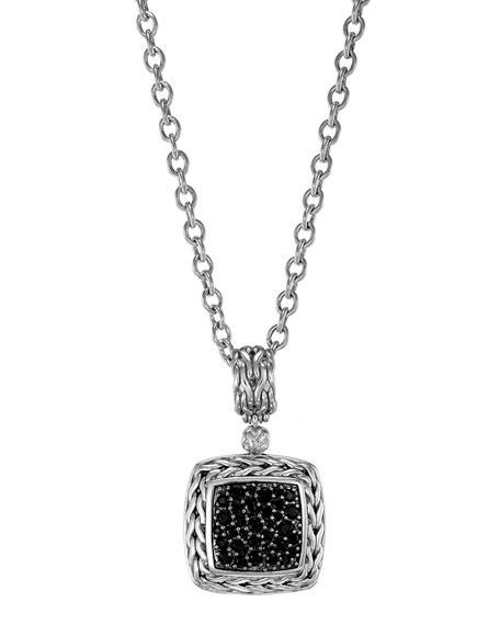 John Hardy Classic Chain Medium Pave Black Sapphire