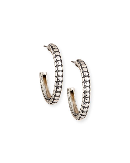 John Hardy Dot Small Silver Hoop Earrings
