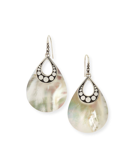 John Hardy Dot Mother-of-Pearl Drop Earrings