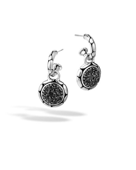 John Hardy Kali Silver Lavafire Drop Earrings