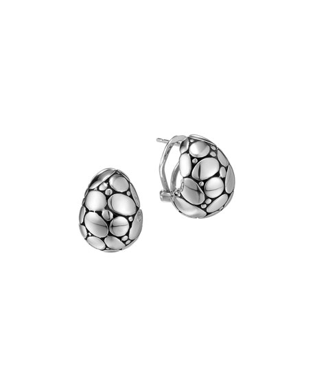 John Hardy Kali Silver Buddha Belly Earrings