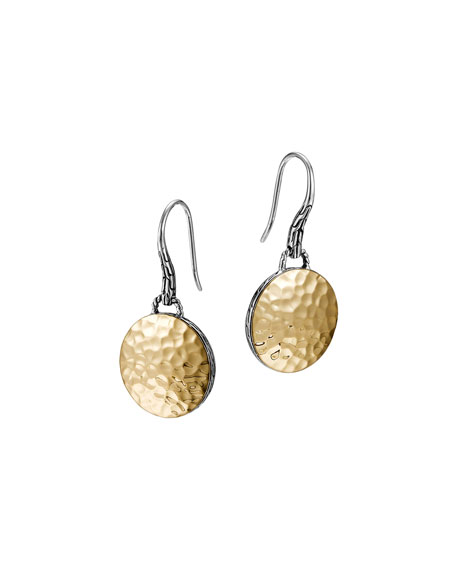 John Hardy Palu Gold-Plate/Silver Round Drop Earrings VymNAOs