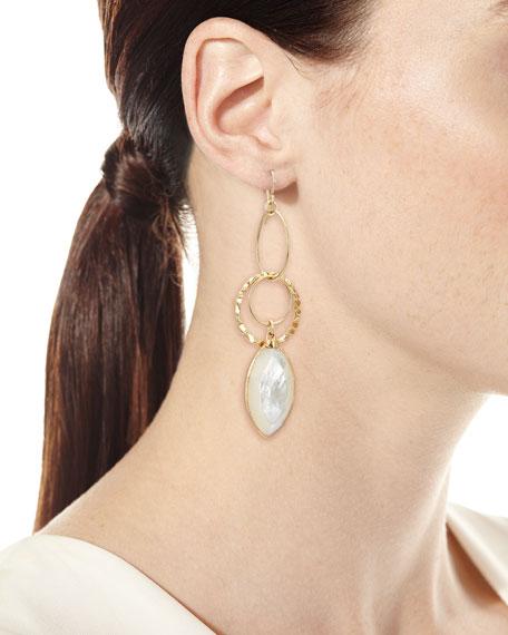 Mother-of-Pearl Dangle Drop Earrings