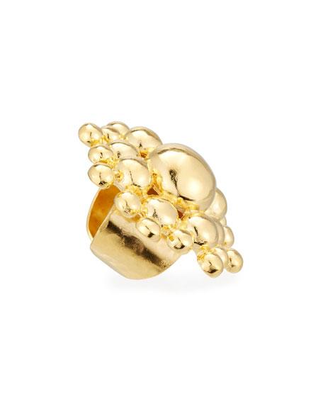 18K Gold-Plated Sunburst Ring