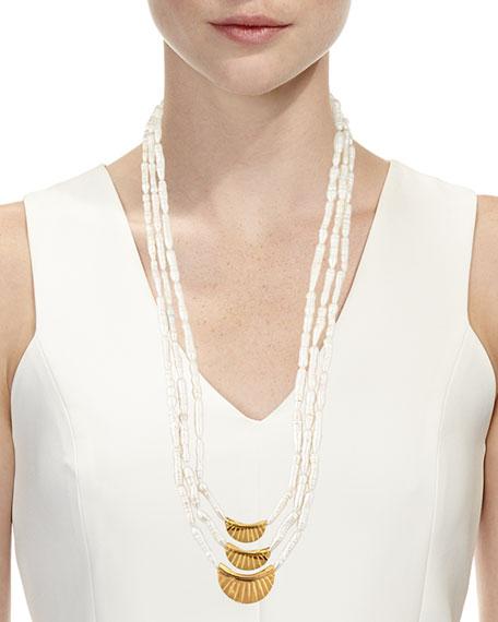 Three-Strand Stick Pearl Necklace