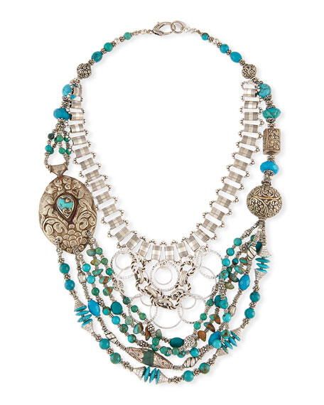 Devon Leigh Multi-Strand Turquoise Necklace