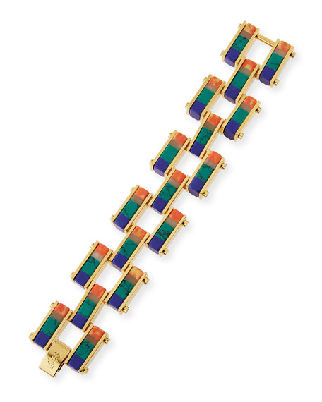 Garden Fence Staggered Stripe Bracelet