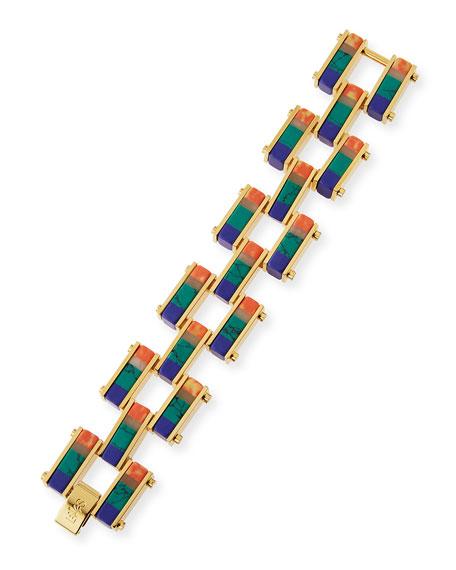 Garden Fence Staggered Stripe Bracelet