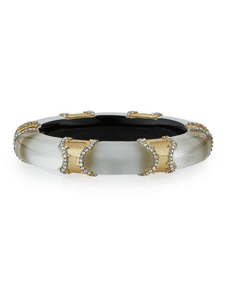 Alexis Bittar Metal Pavé Lucite Bracelet, Silvertone