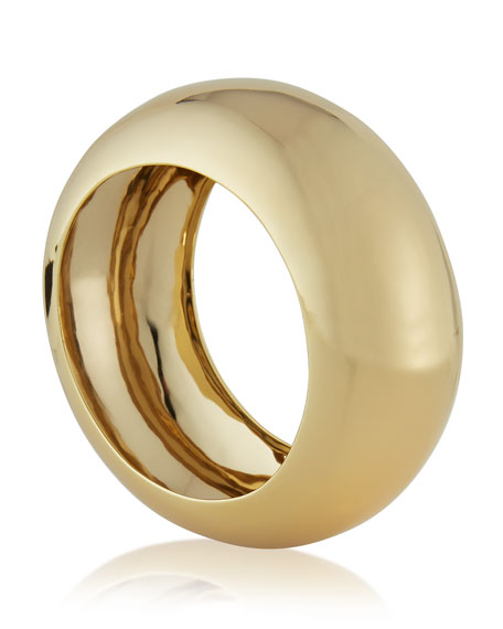 Large Liquid Golden Bangle