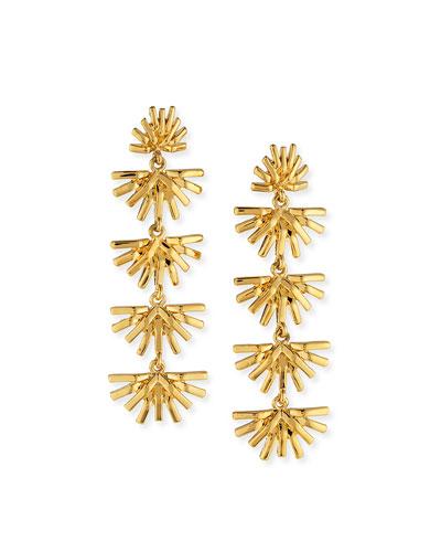 Palm Grass Linear Drop Earrings