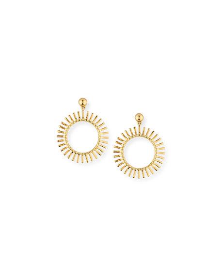 Hula Hoop Drop Earrings